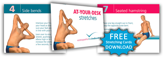 Free download of the at-your-desk stretching cards.