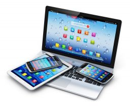 Various mobile and touch-screen devices