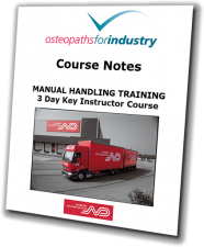 Sample Manual Handling course notes front cover